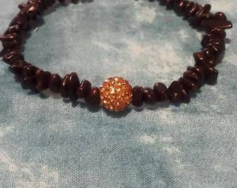 Gold dust men's bracelet