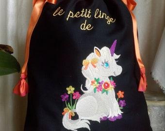 Unicorn lingerie bag