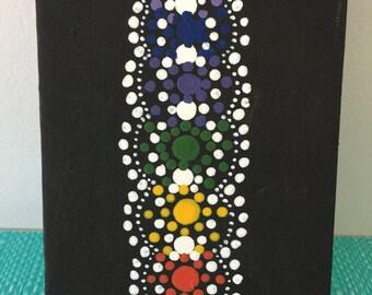 Aboriginal Australian chakra painting, Boho, Eclectic,  acrylic