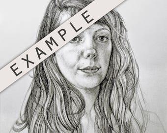 Original Custom Portrait Drawing Sketch
