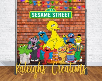 Sesame Street Theme BackDrop