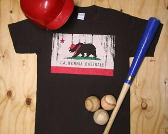 California Baseball T-Shirt - Mens Baseball Shirt
