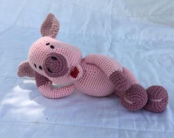 Amigurumi Piglet, Crochet Toy Piglet, Plush Pig, Crochet Animal
