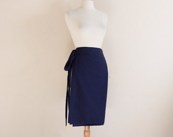 promotion listing simple wrap cotton skirt / cotton wrap skirt / simple wrap skirt / knee length wrap skirt