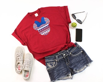 4th Of July Disney - July 4th Disney - Disney American Flag - Disney Holiday Shirt - Disney Women's Shirt - Disney T Shirt