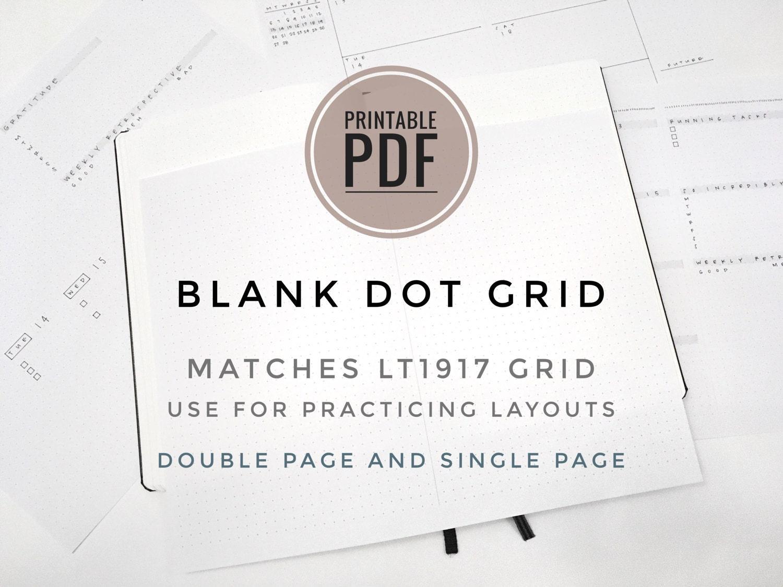 Druckbare PDF Blank Zeitschrift & Kalender Vorlage für 5mm