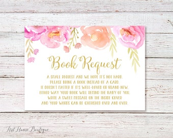 Bring a Book Instead of a Card, Bring a Book Baby Shower Insert, Book Request card, INSTANT DOWNLOAD, digital file