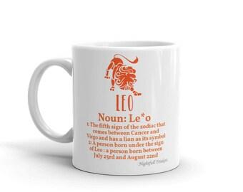 Leo Star Sign Mug