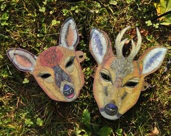 Doe and Buck Deer Masks / Mr. and Mrs. Deer Mask