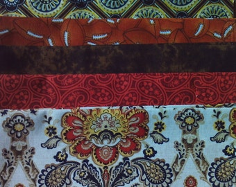 100% cotton Fat Quarter Bundle- Brown Prints