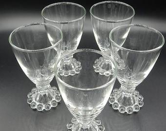 Set Candelwick Glasses Anchor Hocking
