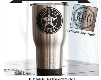 YETI or RTIC Engraved Tumbler/Houston Astros/Houston Astros Yeti/Houston Astros RTIC/Astros/Astros Cup/Gifts For Dad/Father's Day Gifts