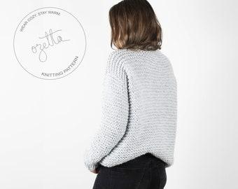 Knitting Pattern / Chunky Knit Sweater, Easy Knitting Pattern, Knit Sweater Pattern / THE FAVORITE SWEATER
