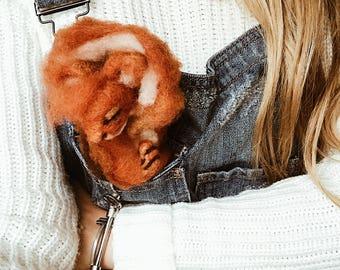 Ginger Sleepy Squirrel Soft Felt Friend