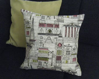 Sketch Print Pillow Covers - Venice, Paris London Rome -