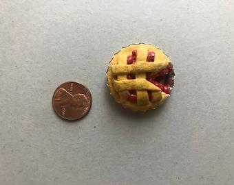 Polymer Clay Cherry Pie Bottlecap Magnet