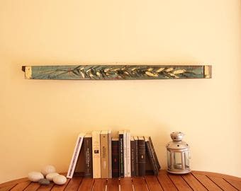 Original Greek Folk Art, Greek Home Decor, Wood Wall Art, Horizontal Wall  Art
