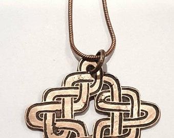 Celtic knot necklace