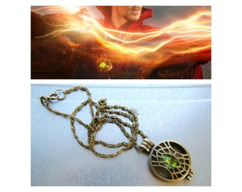 BACKORDER - Eye of Agamotto Pendant - Infinity Stone Collection -  Inspired -  Doctor Strange - Locket Necklace - The Avengers