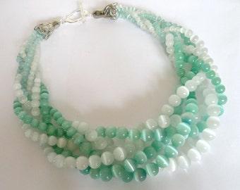 Salt and Sea MultiStrand Necklace