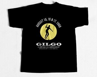Vintage Surf  Gilgo Surfing Championship 1969  Replica T Shirt
