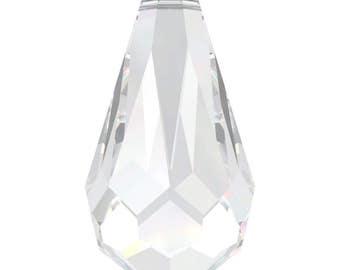 Swarovski Crystal - 6000 Tear Drop Top Drilled - Crystal  11 x 5.5mm, 13 x 6.5mm, 15 x 7.5mm, 18 x 9mm