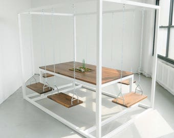 Swing Table with Planter Box