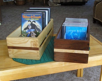 Handcrafted Wooden CD or DVD Storage Box