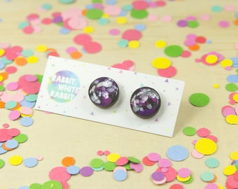 Marble Hand Painted Studs