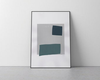 Abstract Squares Limited Edition Minimal Screen Print