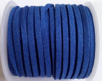 1 m 3mm Navy Blue Suede cord