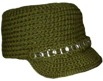 City Hat with Brim - PDF Crochet Pattern - Instant Download
