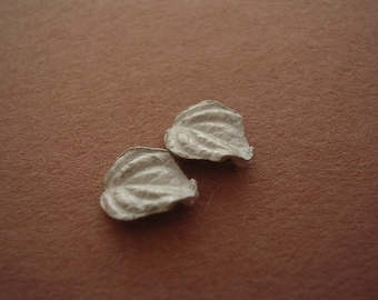 small silver leaves cast lamium leaf unfinished findings silversmith supplies UL004-2