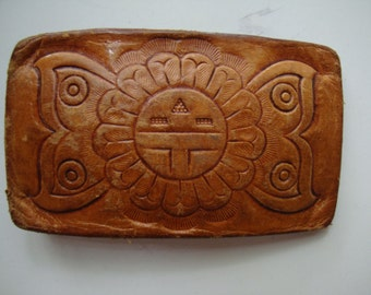 Vintage Belt Buckle Leather  Lovely