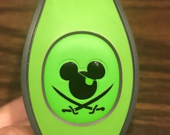 Pirates of the Caribbean - Mickey Skull and Cross Bones - Mickey Icon - Walt Disney World -  Magic Band Decals - fits 1.0 and 2.0