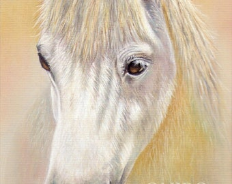 white horse painting print, horse gifts, horse wall art, horse decor, gift for horse lover, housewarming gift, horse spirit animal, horse