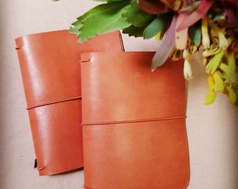 Travelers Notebook GROUNDED TAN,Classic, Leather Journal,Travel Journal, Australian Leather, Teacher Diary
