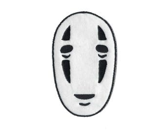 No Face Kaonashi from Spirited Away Embroidered Iron On Patch Iron on Applique