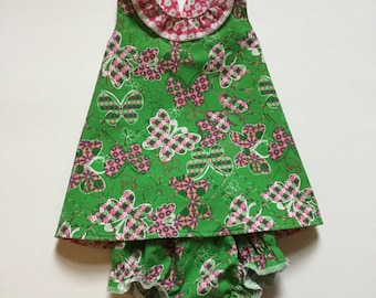 Baby girl Pinafore with Matching Bloomers