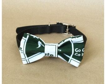 Michigan State Dog bow for collar