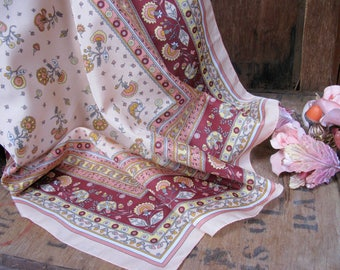 Pink Floral Scarf, Marks and Spencer Scarf, Vintage Scarf, Italian Scarf, 1970s Scarf, 1970s Fashion, Pink Scarf, Pretty Scarf, Ladies Scarf