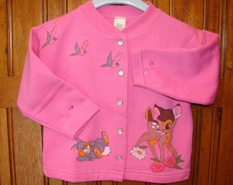Long sleeves Cardigan girl 2 years patterns painted hand