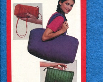 1980's Simplicity 9455 Quilted Purses & Large Tote Bag Pattern UNCUT