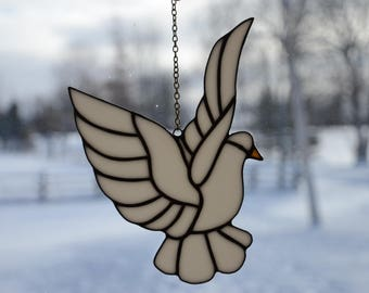 Stained Glass Dove Sun Catcher