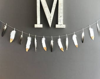 Faux Feather Garland Fall Decor