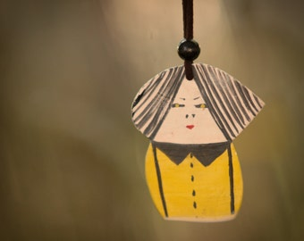 Ceramic Marionette -moblie Swee Doll   Valentine's Day Gift. Modern home decor Unisex adults birthday Gift under 50 USD handmade