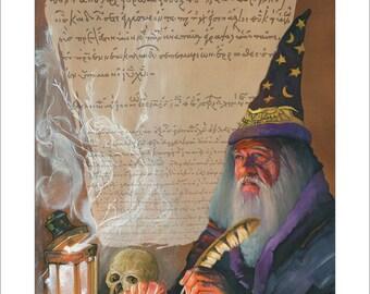 "8x10 Print ""Storyteller"" - Fantasy Art Illustration Reproduction"