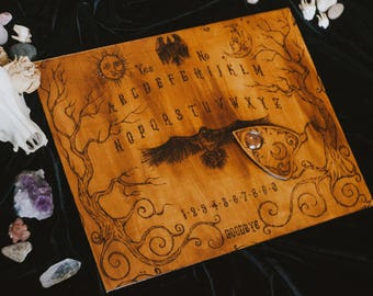 Real Ouija board raven forest handmade spiritual board witchcraft occult mystic gift