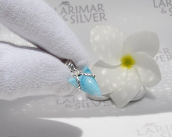 Larimar shark tooth by Larimarandsilver, Baby Blue Shark- blue tooth 925 silver choker, volcanic blue, arrowhead choker Larimar gift for him