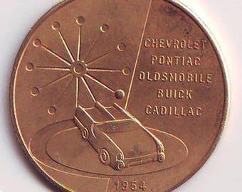 31 mm brass General Motors Motorama of 1954 Chevrolet Pontiac Oldsmobile Buick Cadillac
